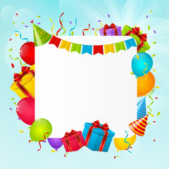 Birthday background for Your design