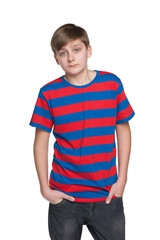 Portrait of an upset teenager boy