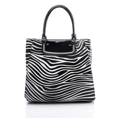 Ladies handbag in zebra
