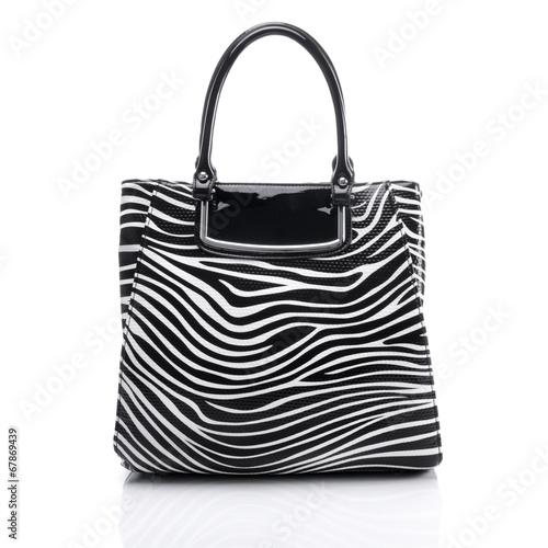 Ladies handbag in zebra - 67869439