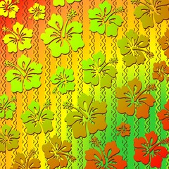 Hibiscus Exotic Tribal Pattern