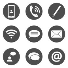 Icons Kommunikation Piktogramme