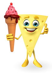 Cheese Character with icecream