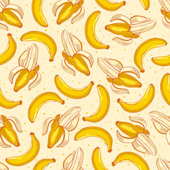 Cute yellow bananas