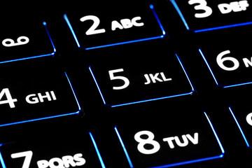 moderne Telefontastatur