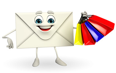 Mail Character with shopping bag