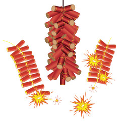 chinese firecrackers design element