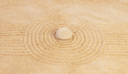 Zen mindset concept