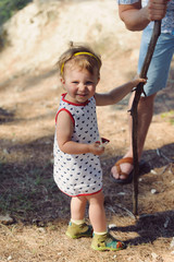Girl and Stick