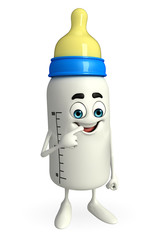 Baby Bottle character with happy pose