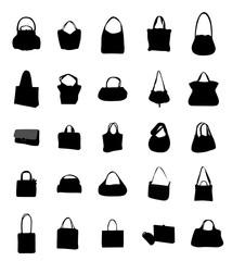 Set of Stylish Handbags Icon