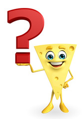 Cheese Character with question mark
