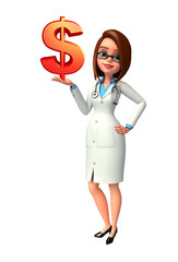 Young Doctor with doller sign