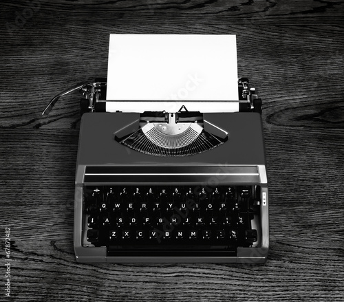 typewriter black and white