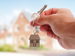 Leinwanddruck Bild - Giving house keys
