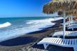 Obrazy na płótnie, fototapety, zdjęcia, fotoobrazy drukowane : Kamari beach, Santorini