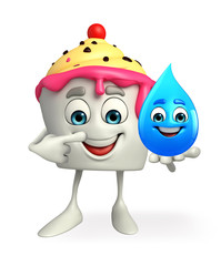 Ice Cream character with water drope