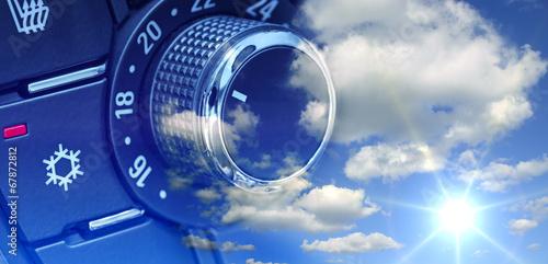 Leinwanddruck Bild Klimaanlage & Sommerwetter