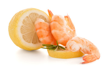 Shrimp with lime