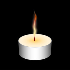 Candle element for any background.