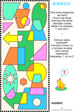 Visual math puzzle - count trapezoids poster