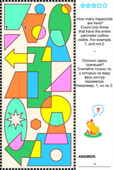 Visual math puzzle - count trapezoids
