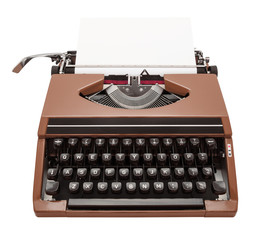 typewriter brown