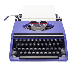 typewriter purple