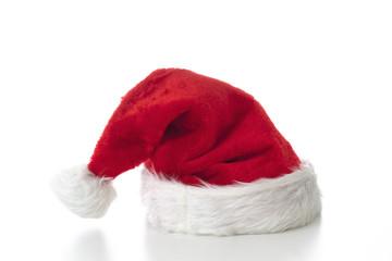 Nikolausmütze auf weissem Untergrund