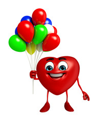 Heart Shape character with balloons