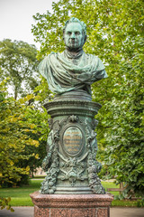 Bust of Andreas Zelinka in Vienna Stadtpark