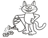 Tomcat - coloring book poster