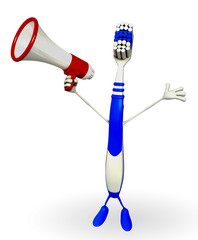 Toothbrush Character with Loudspeaker