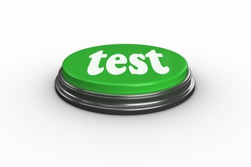 Test on digitally generated green push button