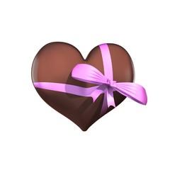 Groot hart van chocola