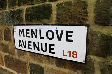 Menlove avenue sign