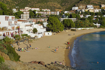 Mediterranean beach with rental apartments Spain