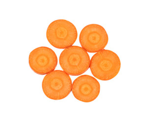 Carrot slices as flower.