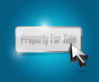property for sale button illustration