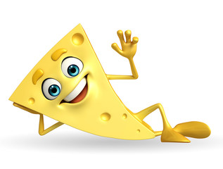 Cheese Character with hello pose