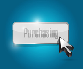 purchasing button illustration design