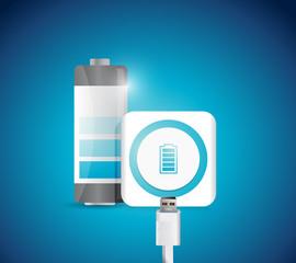 battery recharge illustration design