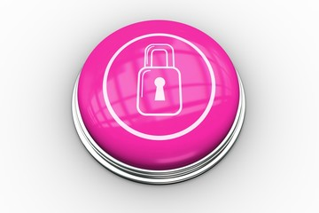 Lock graphic on pink button