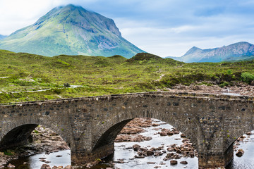 Bridge at Sligachan in Scotland