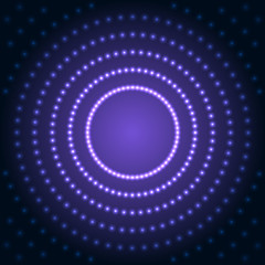 Blue Abstract Background with Lens Flare Dotted Light. Vector