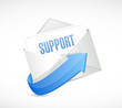 support envelope email illustration design
