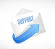 support envelope email illustration design