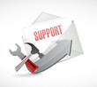 support tools envelope email illustration design