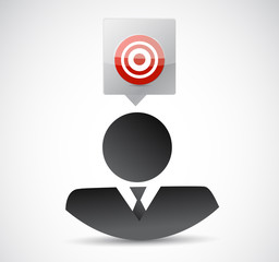 business avatar target illustration design