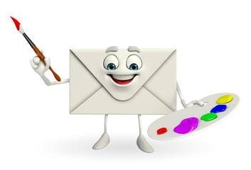 Mail Character with Color plate
